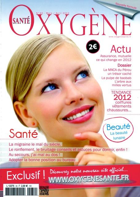 couverture Oxygène mars/avril 2012